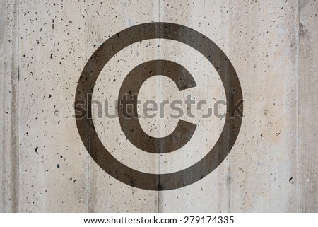 Copyright Symbol - stock photo