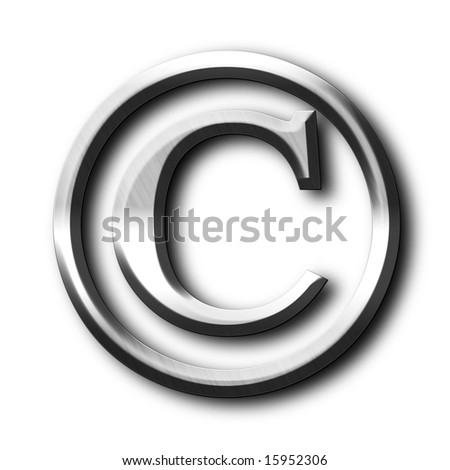 copyright symbol on a solid white background