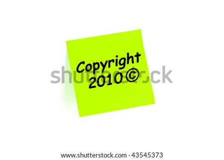 Copyright 2010 symbol on an office paper pad - stock photo