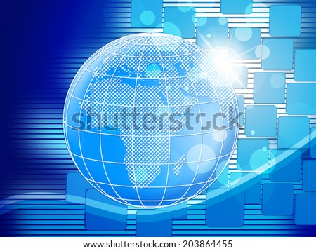 Copyspace Background Representing Blank Globe And Globalise
