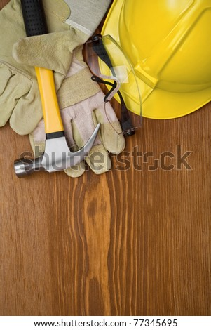 copyspace background with working tools - stock photo