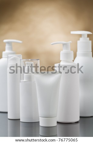 copyspace cosmetic composition - stock photo