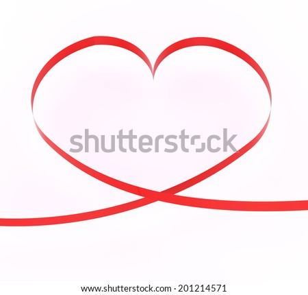 Copyspace Heart Indicating Valentine's Day And Relationship - stock photo