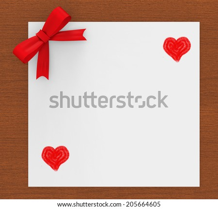 Copyspace Heart Showing Valentines Day And Lovers - stock photo