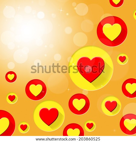 Copyspace Hearts Representing Backgrounds Romantic And Background - stock photo