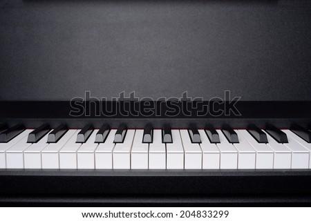 Copyspace image of piano keyboard - stock photo