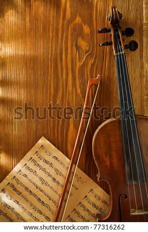 copyspace musical background - stock photo