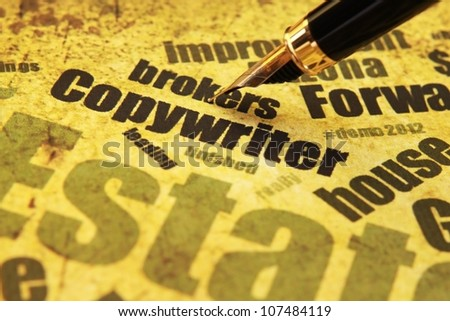 Copywriter cocnept - stock photo