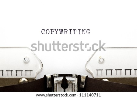 Copywriting headline printed on an old typewriter. - stock photo