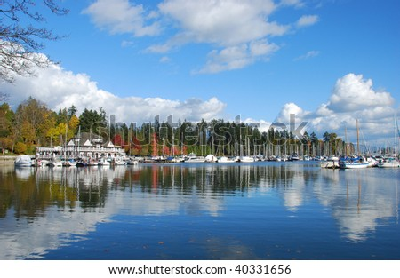 Coral harbor and stanley park at Vancouver, British Cloumnbia, Canada, North America