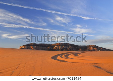 Coral Pink Dunes in southern Utah - stock photo