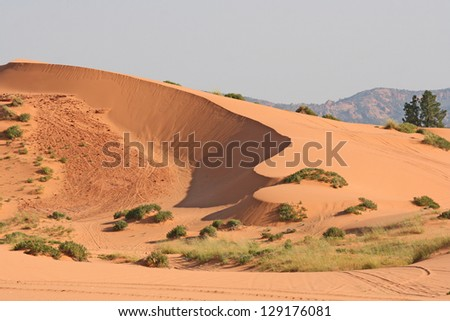 Coral Pink Sand Dune - stock photo