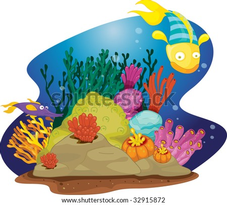 coral reef  (vector illustration also available in portfolio)