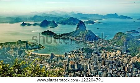 Corcovado. Rio de Janeiro. America.Brazil - stock photo