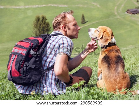 Cordial chat with my dear friend - stock photo