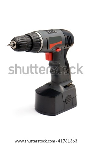 cordless drill isolated over white background