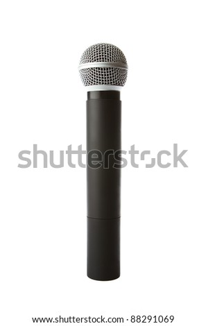Cordless microphone isolated on white background