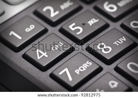 cordless phone keypad - stock photo