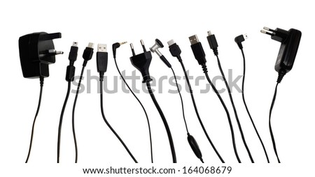 cords isolated over white background