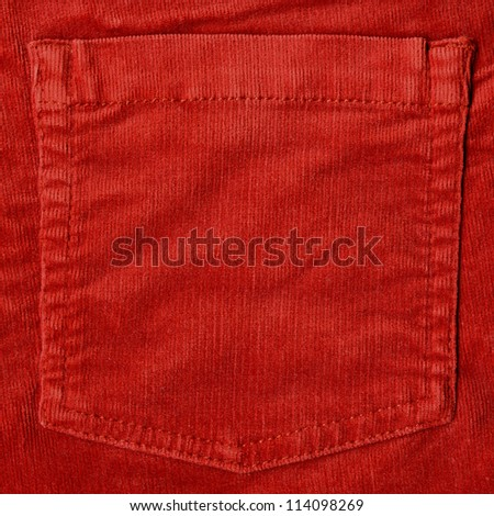 corduroy fabric material background - stock photo