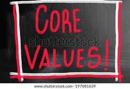 core value concept - stock photo