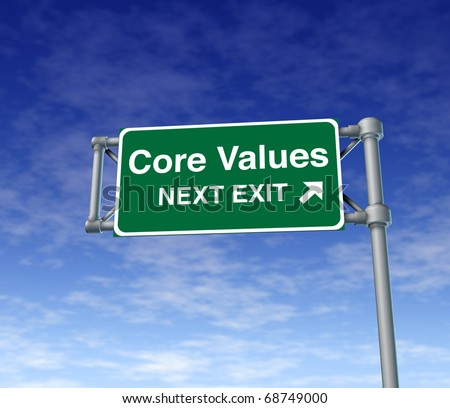 Core Values business symbol street road sign icon