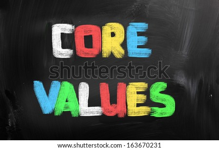 Core Values Concept - stock photo