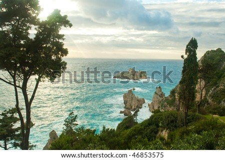 Corfu Island landscape - stock photo