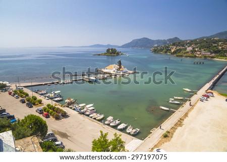 Corfu of Kerkyra - Pontikonisi  island  - stock photo