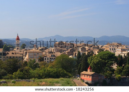 Corfu town - stock photo