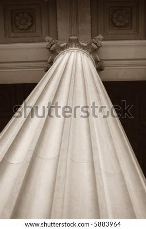Corinthian Column - stock photo