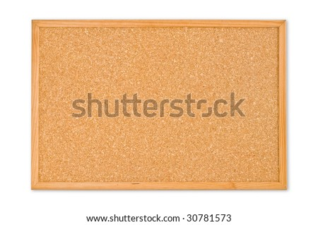Cork board isolated on a white