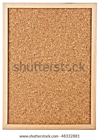 cork-board isolated on white - stock photo