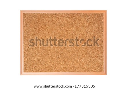 cork-board isolated on white background