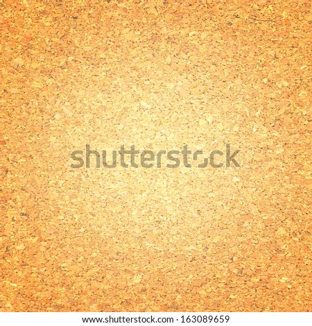 Cork board with light center - stock photo