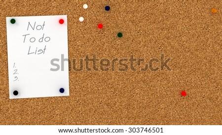 Cork Board Do List Template Copy Stock Illustration 303746489 ...
