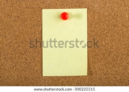 Cork board with Post it