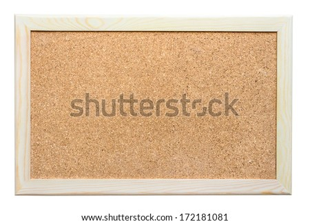 Cork board with wooden frame  - stock photo