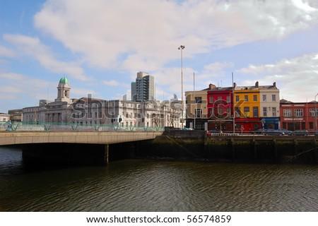 Cork City Center - stock photo
