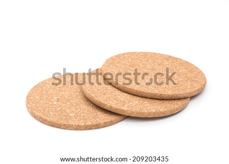Cork mat on white background - stock photo