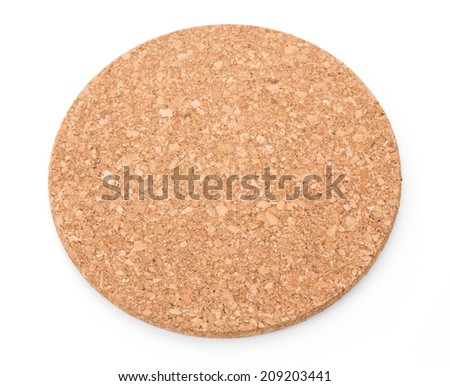 Cork mat on white background