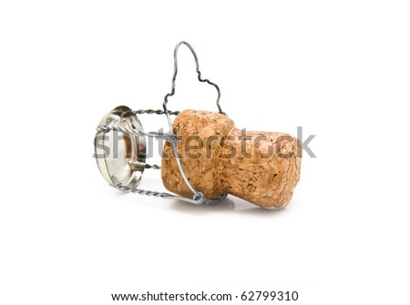 cork on a white background - stock photo