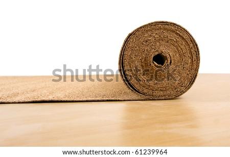 cork roll - stock photo