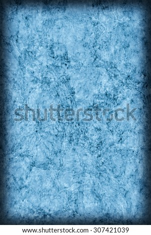 Cork Tile, Bleached and Blue Stained, Coarse, Vignette Grunge Texture.