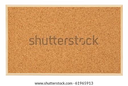 Corkboard (bulletin board) isolated on white - stock photo