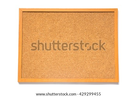 Corkboard placed on white background  - stock photo
