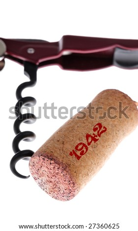 corks and corkscrew - stock photo