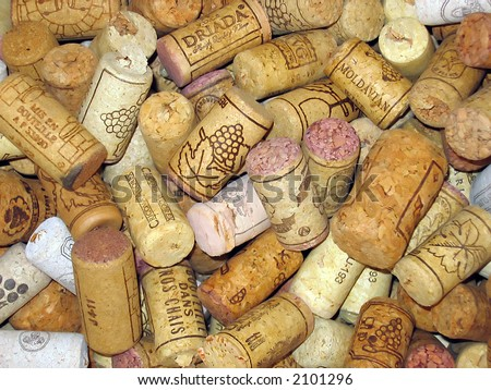 corks from bottles - stock photo