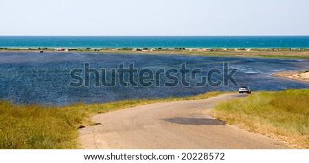 Corkscrew road - stock photo