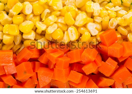 Corn and carrot background